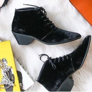 Genuine Leather Mid Heel Western Boot